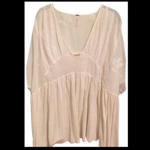 Free People Drape Tunic Too Sheer over shoulder